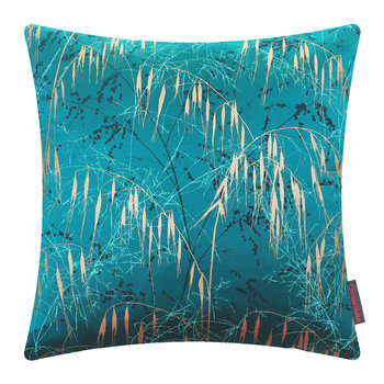 Three Grasses Cushion - 45x45cm - Kingfisher/Aqua