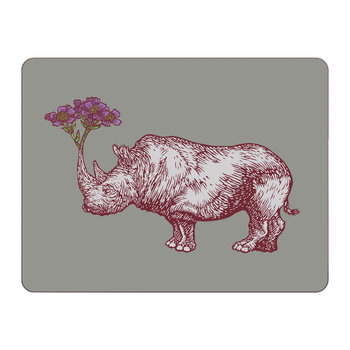 Puddin' Head - Animal Table Mat - Rhino