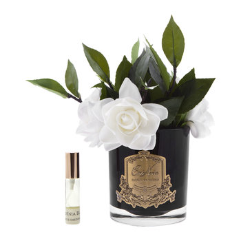 Gardenias in Glass - Black