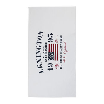 Velour Beach Towel - 100x180cm - White