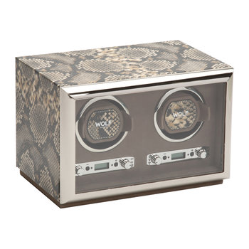 Exotic Double Watch Winder - Tan