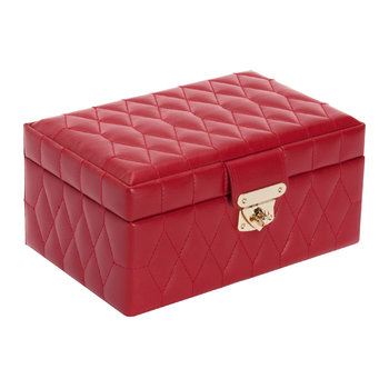 Caroline Small Jewellery Box with Travel Case - Red
