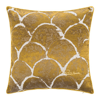 Silver & Gold Bed Cushion - 40x40cm - Gold