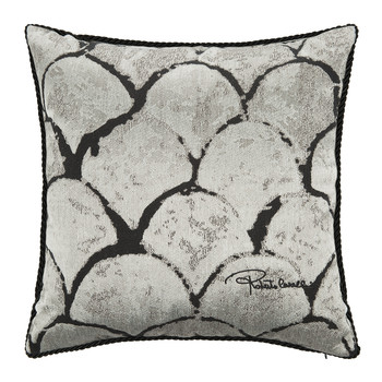 Silver & Gold Bed Cushion - 40x40cm - Silver
