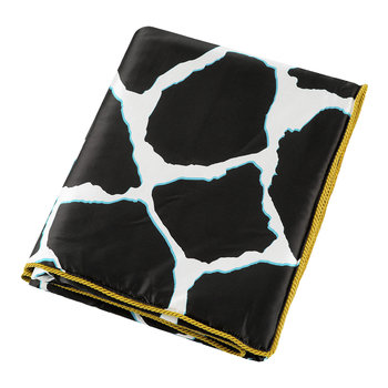 Jerapah Silk Throw - 130x180cm - Black