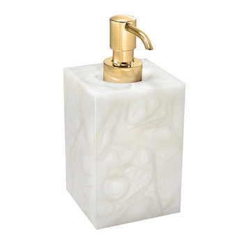 Tessuto Soap Pump - White/Gold