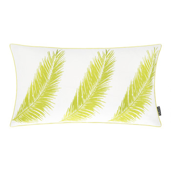 Three Palm Cushion - 30x50cm - Lime/White