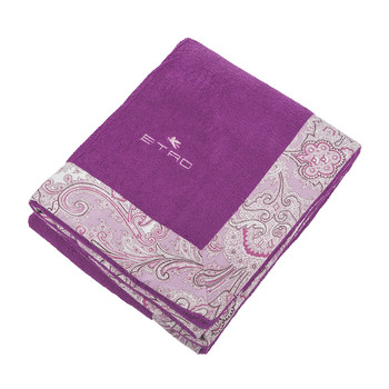 Abbots Beach Towel with Border - Purple