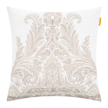 Mill Embroidered Cushion - 45x45cm - Beige