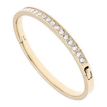 Clem Thin Bangle - Gold/Crystal