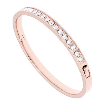 Clem Thin Bangle - Rose Gold/Crystal