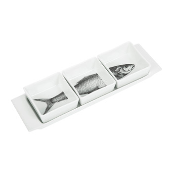 Appetizer Set - Pesci - Black/White