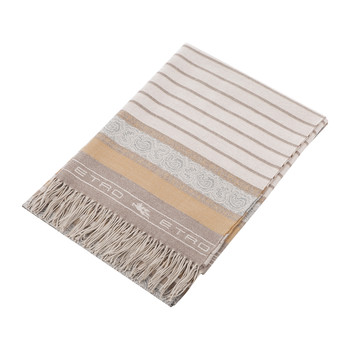 Peguy Fringed Throw - 140x180cm - Beige