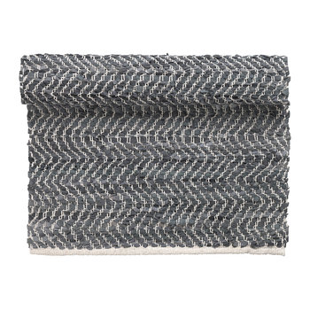 Zigzag Runner Rug - 70x140cm - Dark Gray