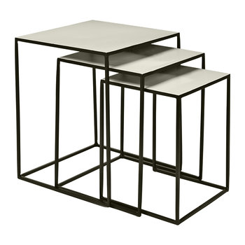 Freja Nesting Table - Set of 3 - Black/Dove