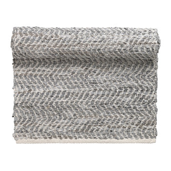 Zigzag Runner Rug - 70x140cm - Light Grey