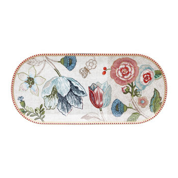 Spring To Life Rectangular Cake Tray - Cream