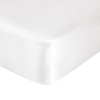 Washington Square Silk Fitted Sheet - Super King - White