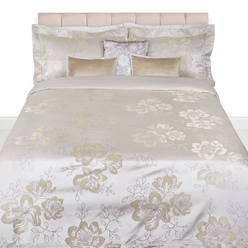Magnolia Jacquard Duvet Set - Natural - Super King