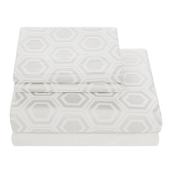 Mosaico Jacquard Sheet Set - Linen - Super King