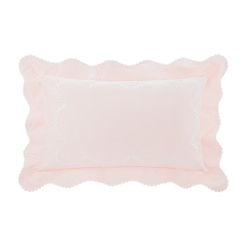 Little Chain Embroidery Pillowcase - Set of 2 - Pink