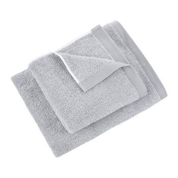 Marble Plain Towel - Snow/Silverstone