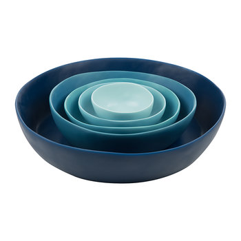 Gradient Bowl - Set of 5 - Ocean Blue