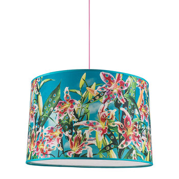 Big Toiletpaper Lamp Shade - Flowers with Holes