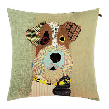 Freddy the Fox Terrier Pillow - 50x50cm