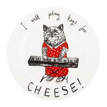 'I Will Play Keys for Cheese' Side Plate
