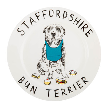 'Staffordshire Bun Terrior' Side Plate