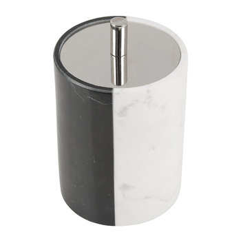 Canaan Canister - Black/White Marble