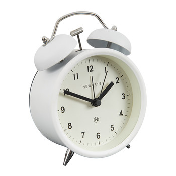 Charlie Bell Alarm Clock - Matt Pebble White