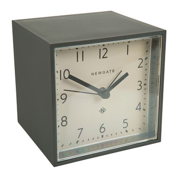 Cubic Alarm Clock - Gravity Gray - White Dial