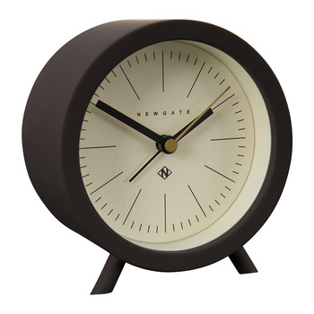 Fred Alarm Clock - Chocolate Black - White Dial