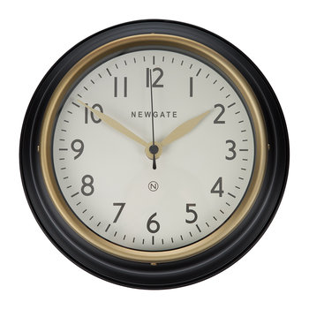 The Mini Cookhouse II Wall Clock - Matt Black