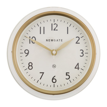 The Mini Cookhouse II Wall Clock - Matt Linen White