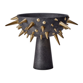 Celestial Bowl on Stand - Black & Gold - Small