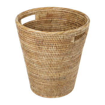 Rattan Waste Basket - Natural