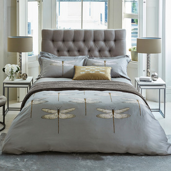 Demoiselle Graphite Duvet Cover