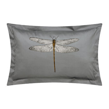 Demoiselle Graphite Oxford Pillowcase - Print