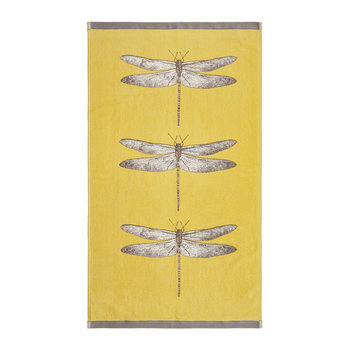 Demoiselle Towel - Gold & Gray
