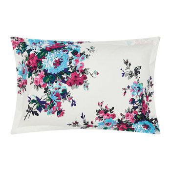 Charlotte Cream Floral Pillowcase - Oxford