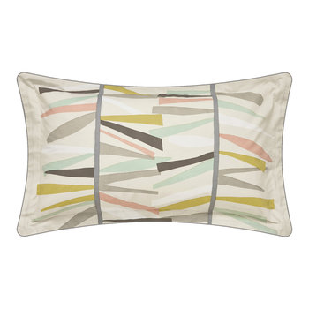 Tetra Hessian & Mint Pillowcase - Oxford
