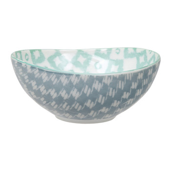Kasuri Bowl - Gray/Green