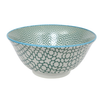 Geo Eclectic Tayo Bowl - Green