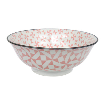 Large Geo Eclectic Bowl - Pink