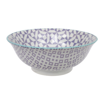 Large Geo Eclectic Bowl - Purple