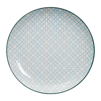 Geo Eclectic Plate - Large - Light Blue