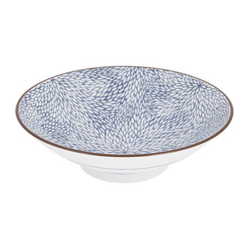 Kiku Blue Low Bowl